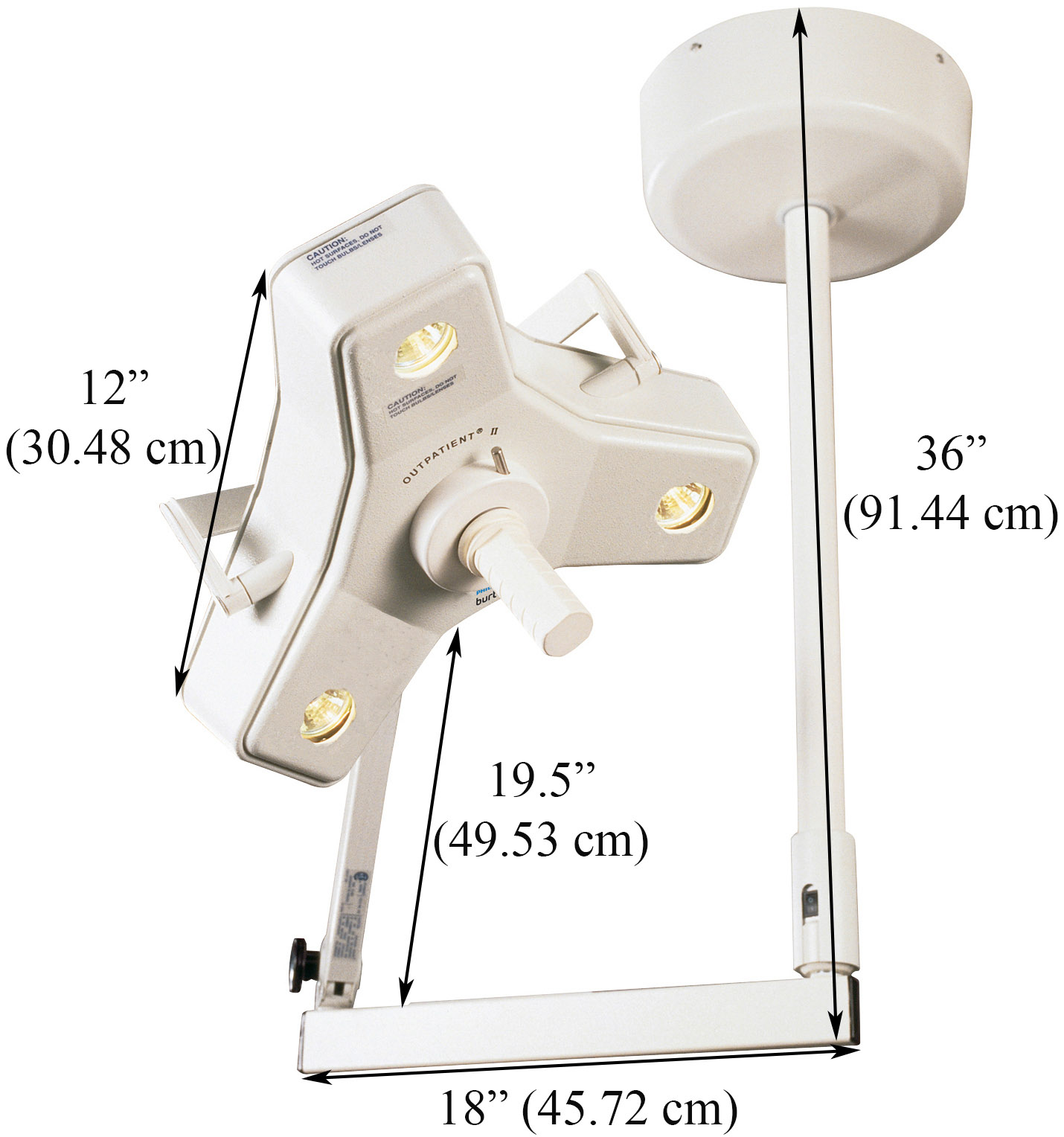 outpatient ii procedure light single head ceiling mount specs