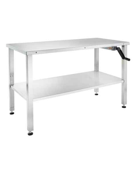 "Blickman Stainless Steel Hydraulic Instrument Table - Adjustable Height 30""-42"""