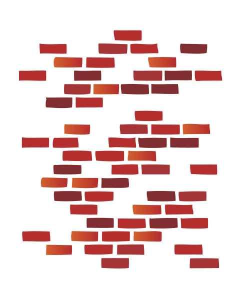 Clinton Wall Sticker - Brick
