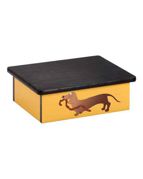 Clinton 10-AC-2 Pediatric Laminate Step Stool - Sausage Dog Graphic