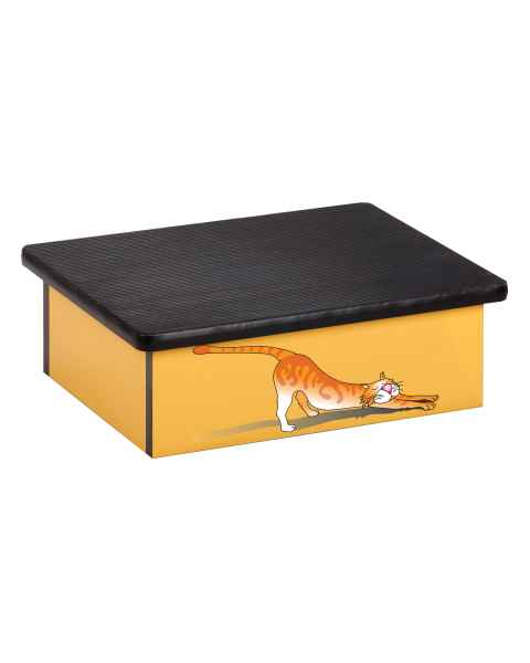 Clinton Pediatric Laminate Step Stool - Stretching Cat Graphic