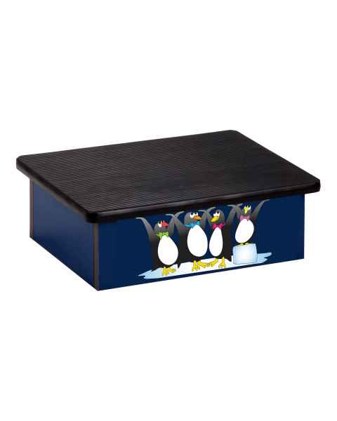 Clinton Pediatric Laminate Step Stool - Cool Pals Penguins Graphic on Blue