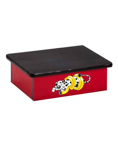 Clinton Pediatric Laminate Step Stool - Dalmatian Graphic on Red