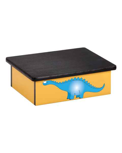 Clinton Pediatric Laminate Step Stool - Dino Days Graphic on Yellow