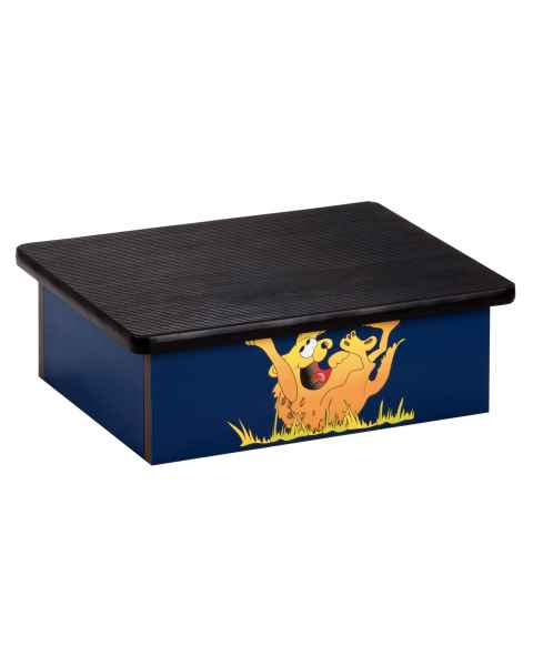 Laminate Foot Stool with Laughing Hyena Graphic