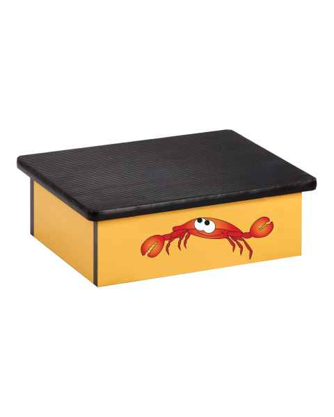Clinton Pediatric Laminate Step Stool - Ocean Crab Graphic on Yellow