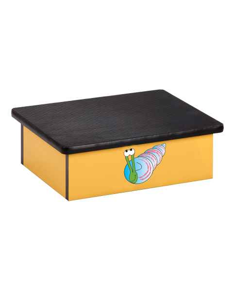 Clinton Pediatric Laminate Step Stool - Ocean Snail Graphic on Yellow