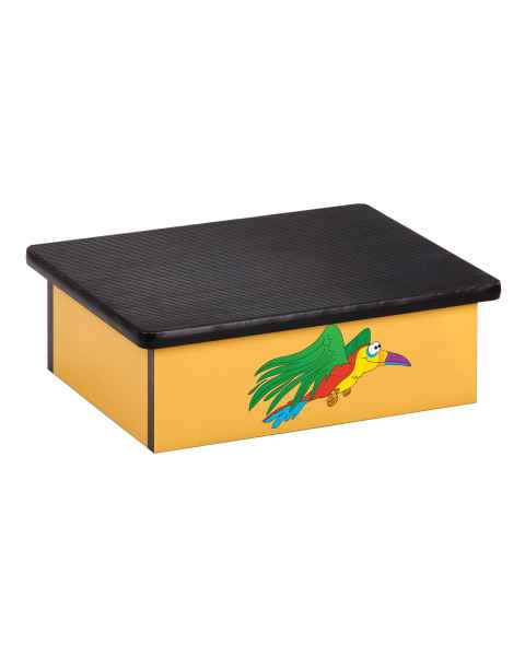 Clinton Pediatric Laminate Step Stool - Rainforest Parrot Graphic on Yellow