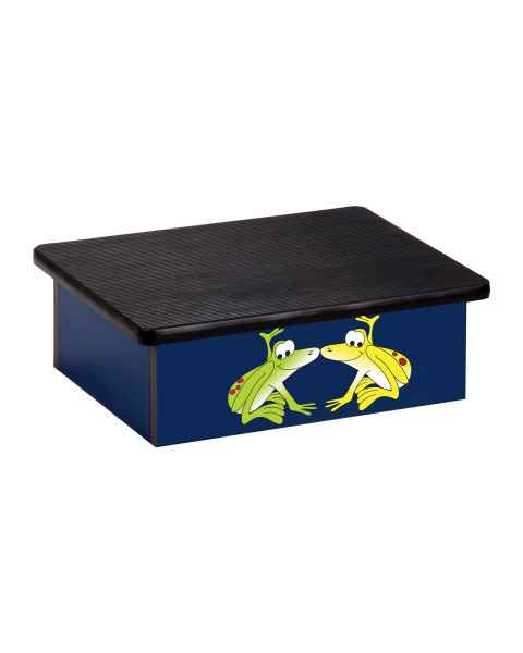 Clinton Pediatric Laminate Step Stool - Rainforest Tree Frogs Graphic on Blue
