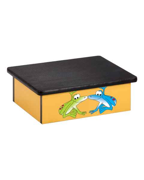 Clinton Pediatric Laminate Step Stool - Rainforest Tree Frogs Graphic on Yellow