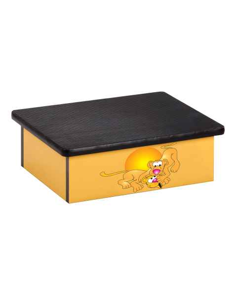 Clinton Pediatric Laminate Step Stool - Serengeti Lion Cubs Graphic on Yellow