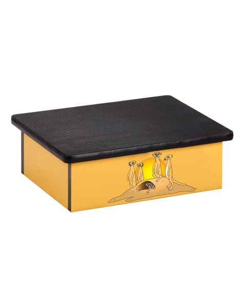 Clinton Pediatric Laminate Step Stool - Serengeti Meerkats Graphic on Yellow