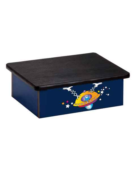 Clinton Pediatric Laminate Step Stool - Space Place Alien Graphic on Blue