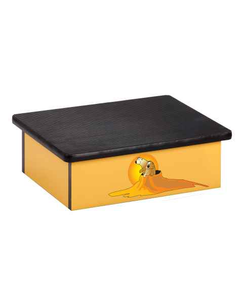 Clinton Pediatric Laminate Step Stool - Southwestfest Prairie Dog Graphic on Yellow