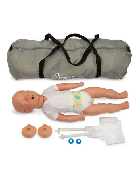 Simulaids Kevin Infant CPR Manikin with Carry Bag - Light