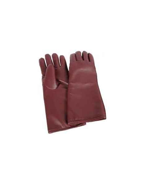 Seamless Lead Vinyl Gloves - Burgundy