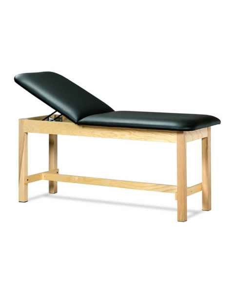 Clinton Model 1010 ETA Classic Series Treatment Table H-Brace Hardwood Legs & Adjustable Backrest
