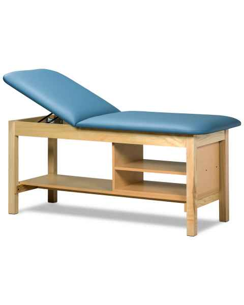 Clinton Model 1030 Classic Series Treatment Table with Adjustable Backrest & Shelving