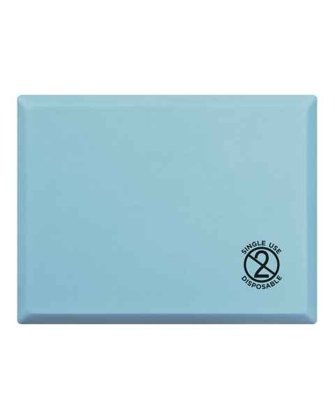 """GelPro Medical Disposable Surgical Comfort Step Stool Mat - Size 13"""" x 17"""" - Columbia Blue"""