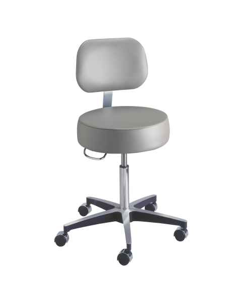 Century Pneumatic Stool with Backrest & Locking Casters
