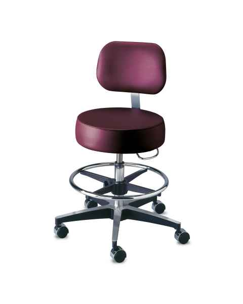 Century Pneumatic Stool with Backrest & Adjustable Footring