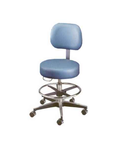 Century Pneumatic Stool with Backrest & Seamless Seat & Adjustable Footring