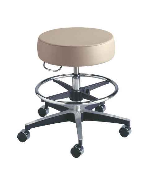 Century Pneumatic Stool with Adjustable Footring