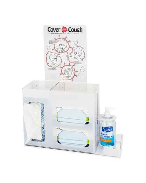 FlexiStore Cover Your Cough Respiratory Hygiene Station without Lid - White