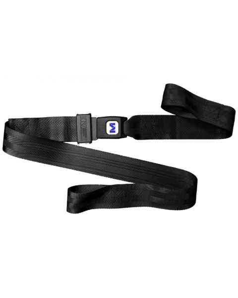 2-Piece Nylon Strap with Metal Push Button Buckle & Loop-Lok Ends - 3'