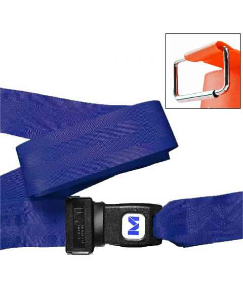 2-Piece Nylon Strap with Metal Push Button Buckle & Metal Roller Loop Ends