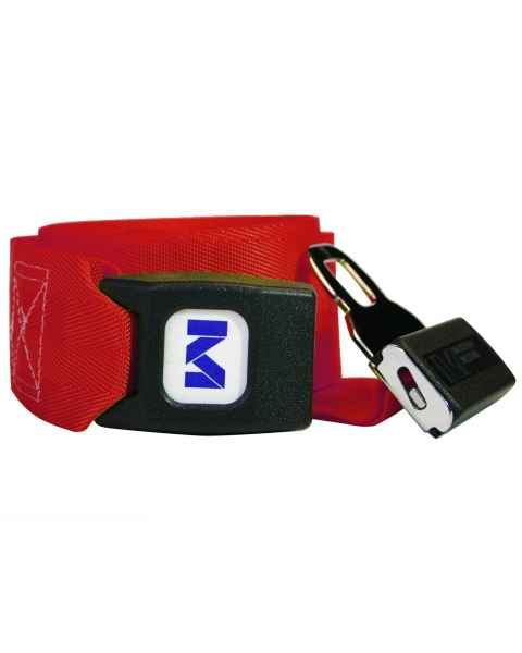 Morrison Medical 1209-12 1-Piece Nylon Strap with Metal Push Button Buckle - 12'