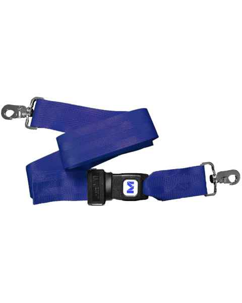 Morrison Medical 1210 2-Piece Nylon Strap with Metal Push Button Buckle & Metal Swivel Speed Clip Ends - 5'