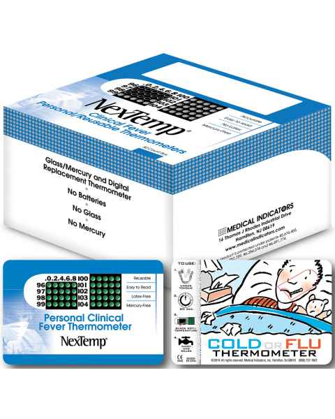 NexTemp Reusable Personal Clinical Thermometer in Wallet Size Carrier