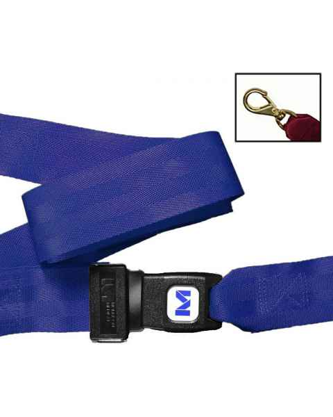 2-Piece Nylon Strap with Metal Push Button Buckle & Big Mouth Swivel Speed Clip Ends