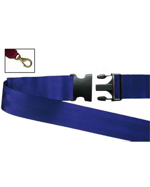 2-Piece Nylon Strap with Plastic Side Release Buckle & Big Mouth Swivel Speed Clip Ends