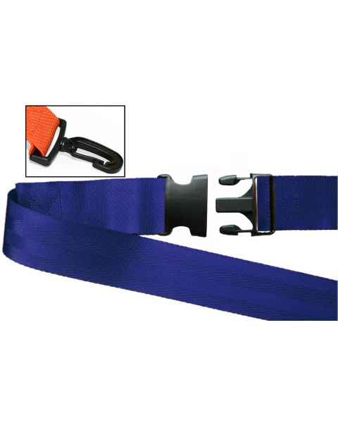 2-Piece Nylon Strap with Plastic Side Release Buckle & Plastic Swivel Speed Clip Ends