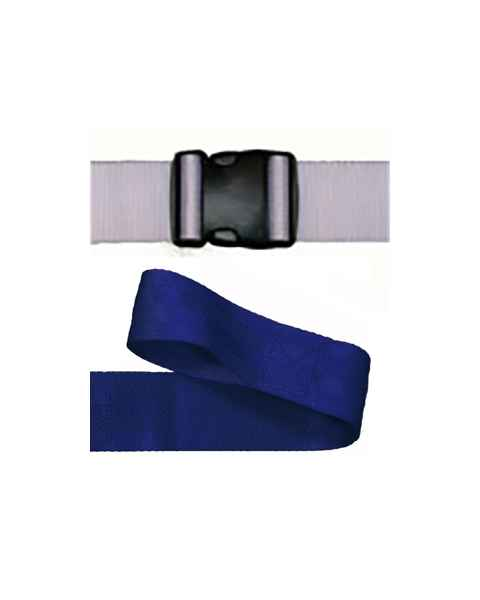2-Piece Nylon Strap with Plastic Side Release Double Adjust Buckle & Loop-Lok End