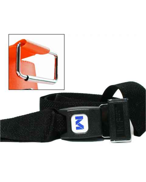 2-Piece Polypropylene Strap with Metal Push Button Buckle & Metal Roller Loop Ends