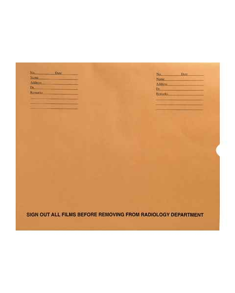 "14 1/2"" x 17 1/2"" Open End Negative Preserver with Thumb Cut - Brown Kraft"
