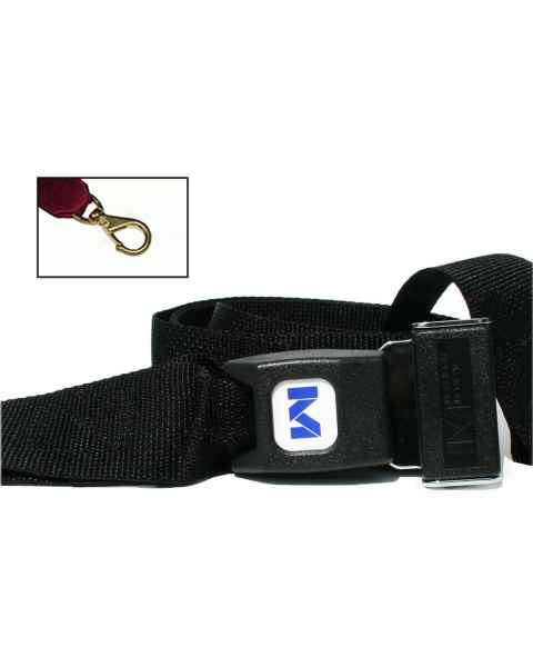 2-Piece Polypropylene Strap with Metal Push Button Buckle & Big Mouth Swivel Speed Clip Ends
