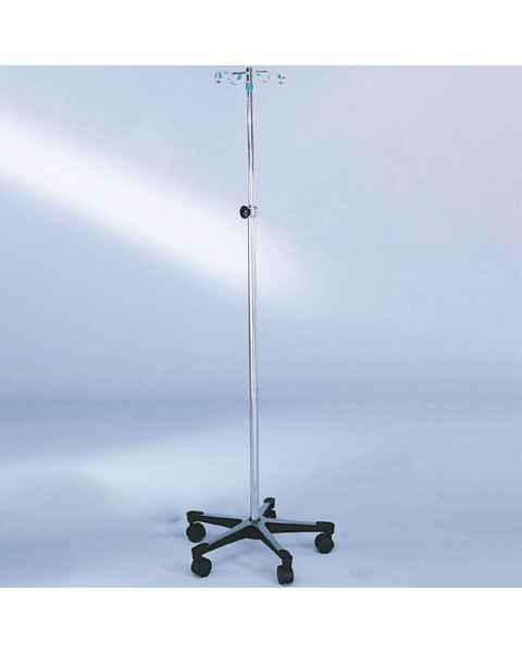 Blickman Model 1350 Chrome IV Stand with 5-Leg, Tru-Loc Friction Knob Height Adjustable, & 4-Hook
