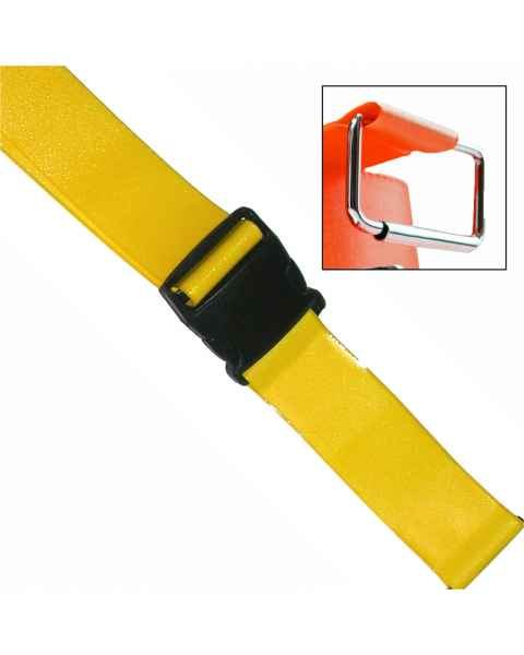 2-Piece Patho-Shield Strap with Plastic Side Release Buckle & Metal Roller Loop Ends