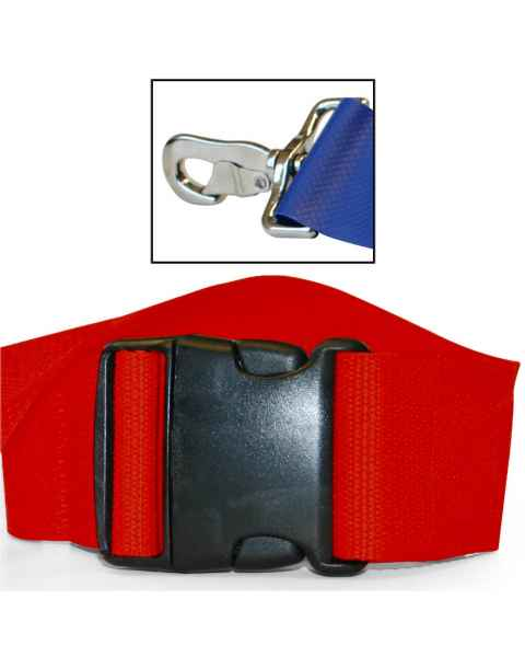 2-Piece Polypropylene Strap with Plastic Side Release Buckle & Metal Swivel Speed Clip Ends - 7'