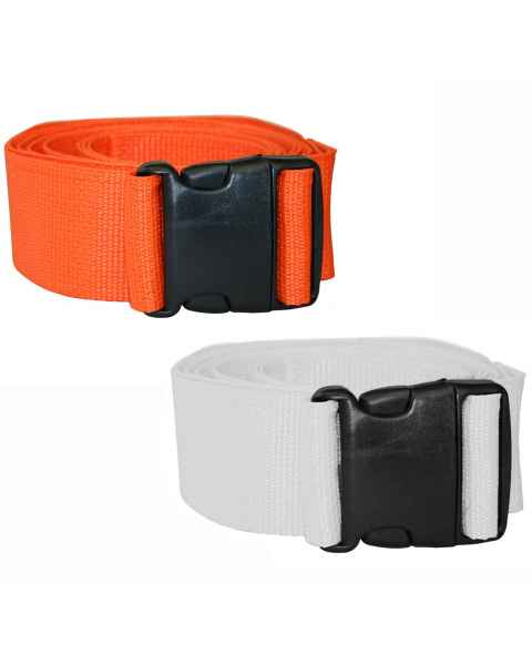 1-Piece Disposable Polypropylene Strap with Plastic Side Release Buckle