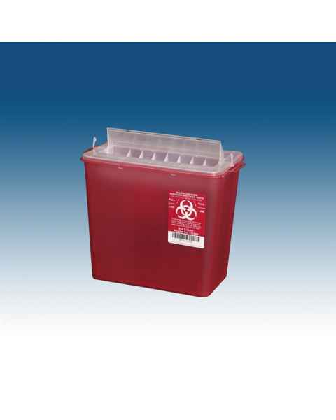 8 Qt. Horizontal Sharps Container Red
