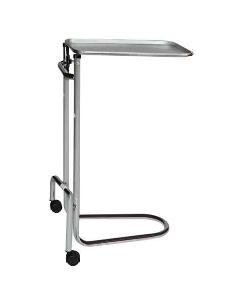 Blickman Model 1510 Chrome Double-Post Mayo Stand with Stainless Steel Tray