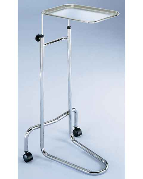 Blickman Chrome Double-Post Mayo Stand with Stainless Steel Tray