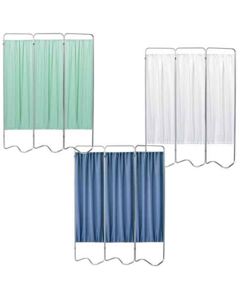 OmniMed 153053 Beamatic 3 Section Folding Privacy Screen