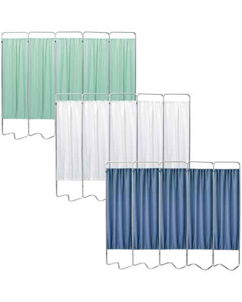 OmniMed 153055 Beamatic 5 Section Folding Privacy Screen