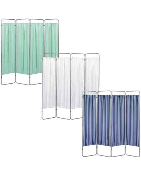OmniMed 153094 Economy 4 Section Folding Privacy Screen